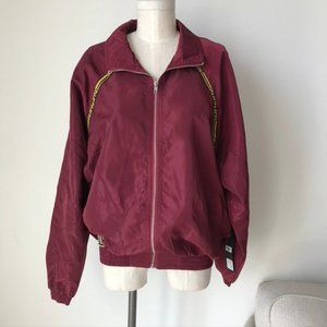 [LF] The Brand Burgundy Windbreaker Jacket